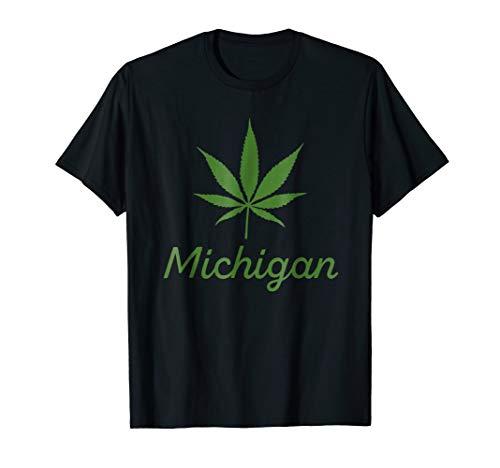 (Michigan Pot Leaf shirt - Legalize Marijuana State Tshirt )