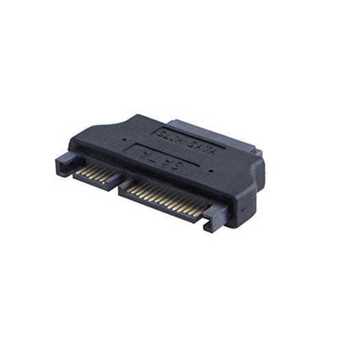 CableCreation SATA 22Pin Male to Slim SATA 13Pin Female Adapter, Slim SATA Adapter, 2.5
