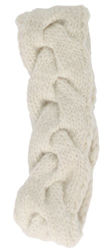 Nirvanna Designs HB05 Braided Headband with Fleece, White