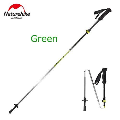 Twins LLC - 1 Pcs 5 Sections Carbon Fiber Portable Ultralight Adjustable Walking Sticks Camping Trekking Poles Hiking Stick (Twin Tip Skis Steel)
