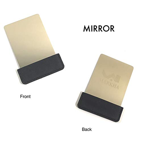 9363f6366f2a Markha Pocket Mirror for Women - Compact Small Unbreakable Portable Thin  Travel Mirror for Purse Wallet (Black)