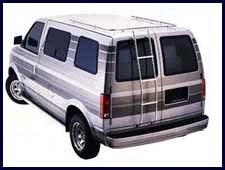 [Surco 200C Aluminum Mini Van Ladder for Chevy Astro] (Aluminum Van Ladder)