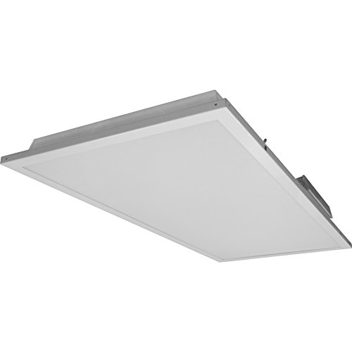 NICOR Lighting 2x4 Foot Dimmable 3500K LED Troffer with Emergency Backup (T3C-24-MV-35-EM)