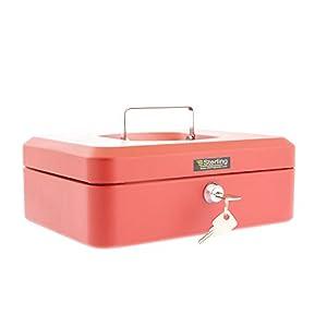 Burg Wachter CB03R Cash Box, Red, 10″