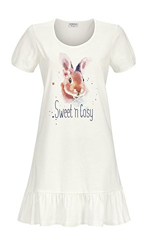 Ringella 8261004 Damen Nachthemd 100% Baumwolle in Off white