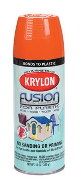 (Krylon Fusion Spray Paint for Plastic pumpkin orange gloss)