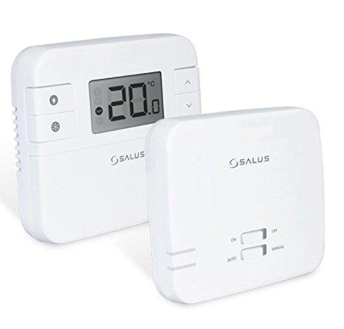 Termostato digital de la marca Salus, RT310RF, con radio frecuencia, inalá mbrico, con receptor, repuesto directo para RT300RF inalámbrico Salus Tech