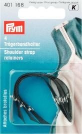 (PRYM 401168 Shoulder strap retainers black, 4 pieces)