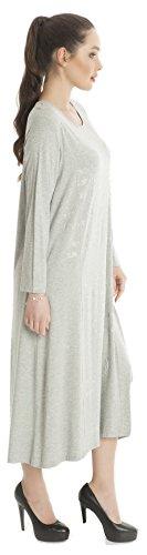 ... Damen Kleid lang verziert mit Steinen, Damen Jumper Langarm Casual - Plus  Size auch Übergrößen