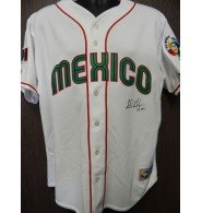 Jersey 2006 (Signed Gonzalez, Adrian 2006 World Baseball Classic Team Mexico Replica Jersey Size XL autographed)