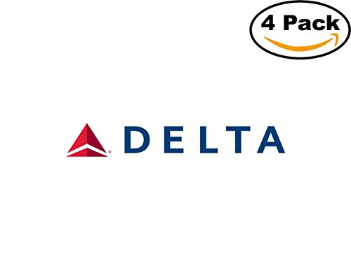 Delta Airlines 4 Stickers 4X4 inches Car Bumper Window Sticker Decal