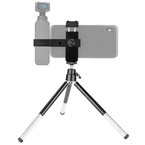 Rantow Osmo Pocket Tripod, Multifunction Portable Phone Holder Mobile Fixed Mount Stand Stabilizers Compatible with DJI Osmo Pocket Handheld Camera
