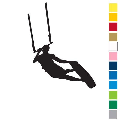 Kiteboard Sticker - Dark Slide Black
