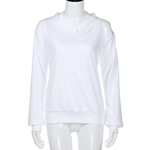 Shirt T Chic D Femme Longues Blouse Manches Bretelles Moonuy Epaule 5tEqz7vt
