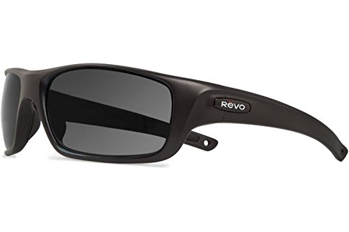 Revo Guide II RE 4073 11 GY Polarized Rectangular Sunglasses, Matte Black/Graphite, 61 - Sunglasses Guide