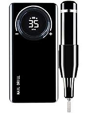 TELAM Nagelboor Machine Elektrische Nagelvijl, 35000 RPM Intelligente Digitale Display Panel Verstelbare Snelheid Nagelpolijstmachine Voor Acryl Nagellak, Nagelscrubben, Slijpen, Polijsten