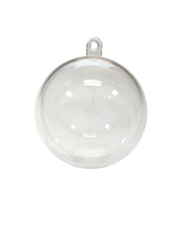 12 Clear Plastic Ornament Ball - Christmas Ornament, DIY Bath Bomb, Decorations, Crafting (60mm (2.5