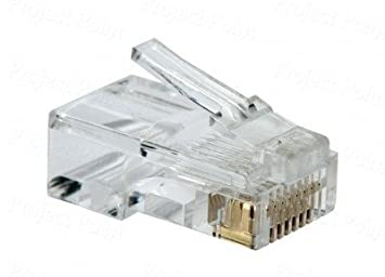 D Link Cat 5 RJ 45 Cable Connector Pack Of 100 Pieces Buy D
