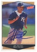 Joe Randa Kansas City Royals 1999 Victory Autographed Card. This item comes with a certificate of authenticity from Autograph-Sports. Autographed 1999 Victory Autographed Card