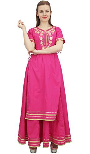 Magenta Kurta Long Dress Bimba Classy Jupe Coton Indian Clothing Mustard wCOI4qznxS