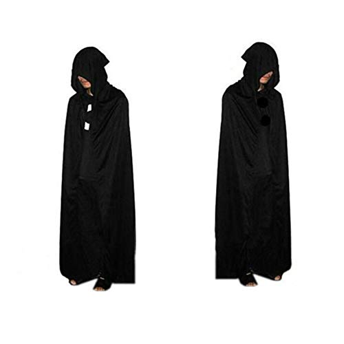 1Pc Halloween God of Death Cloak Hooded Cape Witch Adult Devil Robe Floor Length Cosplay Party Supplies Wholesale P10]()