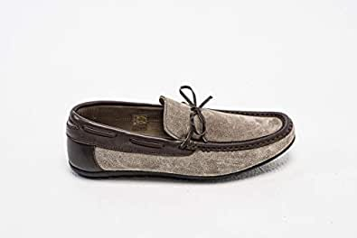 Konfidenz suede and leather driver moccasins for men