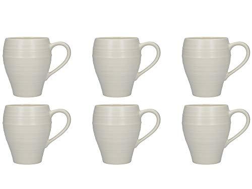 Swirl Fluted - Mikasa 'Swirl' Glazed Fluted Stoneware Mugs, 510 ml – White (Set of 6)