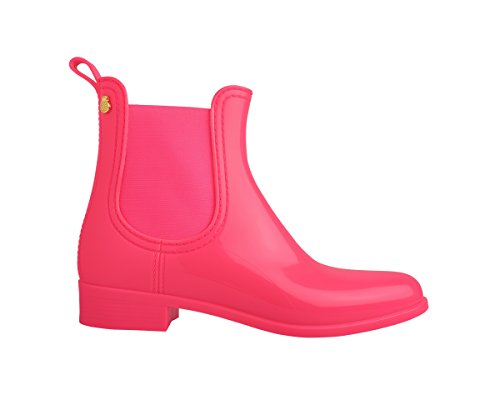 Boots Rain Jelly Pink Comfy Lemon Women's HARnpHq