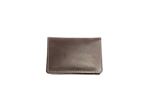 Wallet Dark Card Brown Thin Leather Bifold Wallets Credit Artmi Men's Handmade Slim Holder qOv4vP