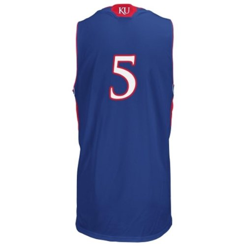 dd428940b5811 Amazon.com: Kansas Jayhawks NCAA #5 Kids Replica Jersey, Royal Blue ...
