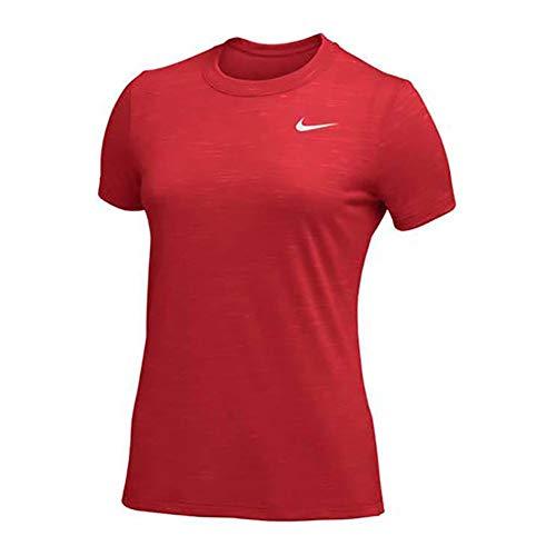 Nike Legend Veneer Women's Dri-Fit Crewneck Fitness T-Shirt Tee (Red, Large) 1