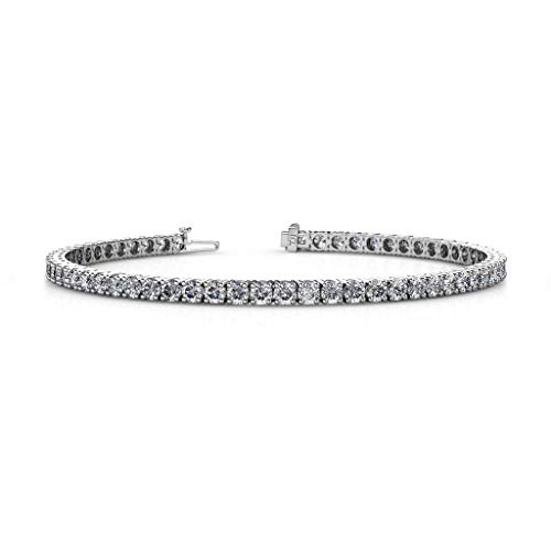 TriJewels Lab Grown Diamond Womens Eternity Tennis Bracelet (VS2-SI1, G-H) 5.25 ctw 14K White Gold from TriJewels