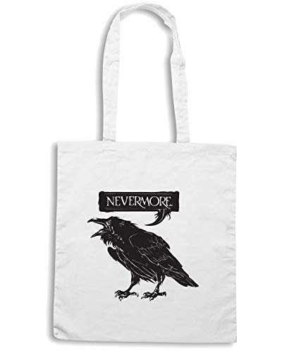 Borsa RAVEN Shirt Shopper Speed FUN0295 Bianca NEVERMORE CRnvP4