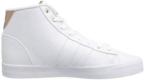 Adidas Dames Cloudfoam Dagelijkse Qt Mid Fashion Sneakers Wit / Wit / Licht Koper