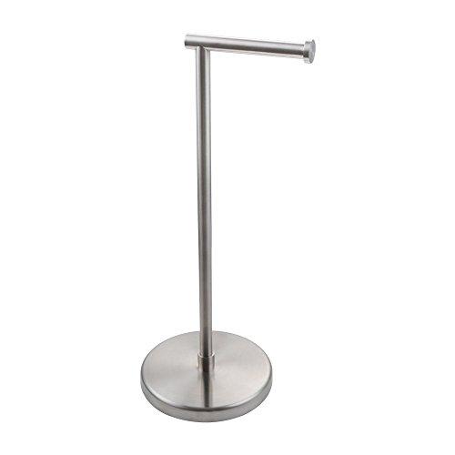 KES SUS304 Stainless Steel Bathroom Lavatory Pedestal Toilet Paper Holder and Dispenser Free Standing, Brushed, BPH280S1-2