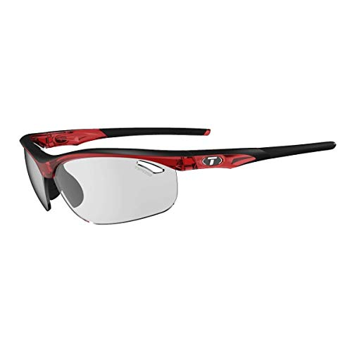 Tifosi Crystal Red-Fototec Smoke 2019 Veloce Fototec Cycling Glasses (Default, Red) ()