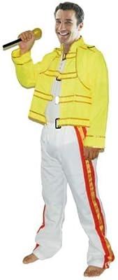 Años 80 Freddie Mercury Disfraz Wembley Rock Star Hombre Freddy ...