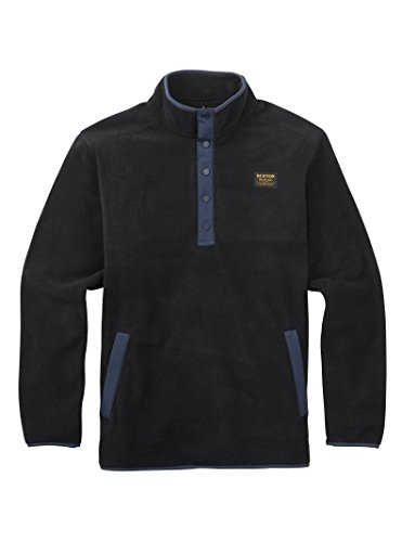- Burton Men's Hearth Fleece Anorak Sweaters, True Black, X-Large