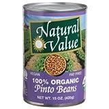 Natural Value Organic Beans Pinto (12x15Oz)