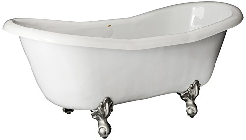 Restoria Bathtubs The Duchess Bathtub Nickel Clawfeet 7