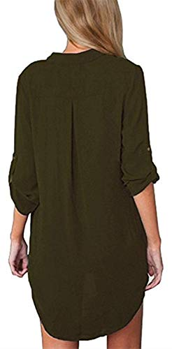 Mode lgant Jeune Shirt Casual Printemps Tops Femme Mousseline Chemisiers Gr Unique Manches Et Button Mode Chemisier Cou Longues breal Bandage Modle Impression V wRSqqH