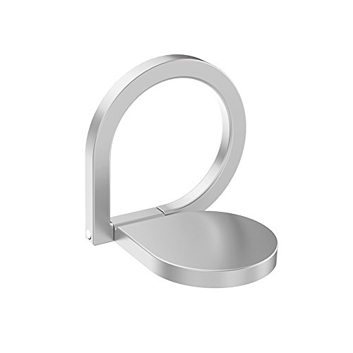 Phone Ring Holder Stand, HuntGold Universal Rotated Water-Drop Finger Ring Clip Stand Bracket Buckle Phone Kickstand for All Smartphones iPhone Samsung Huawei Also for Tablets Silver