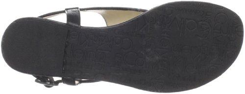 Shiny Thong Sandal Calvin Klein Sandrah Black qC1qcEtw