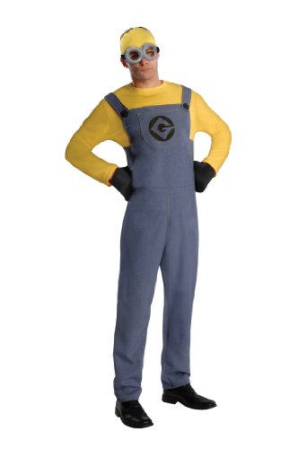Despicable Me 2 Costumes For Adults (Rubie's Costume Despicable Me 2 Adult Minion Dave, Blue/Yellow, Standard Medium Costume)