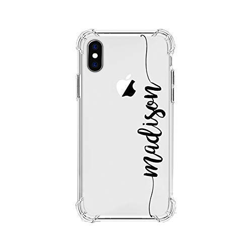 MARBLEFY Personalized Handwriting Name Shockproof Protective Case for iPhone Xs/Xr/X/8/7/6/Plus/Max protective custom name case