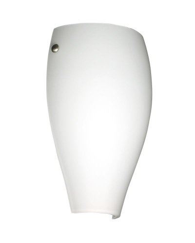 - Besa Lighting 704307-SN 1X75W A19 Chelsea Wall Sconce with Opal Matte Glass, Satin Nickel Finish