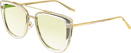 Quay Women's French Kiss Sunglasses, Clear/Rose Gold, One - Sunglasses Rose Quay Australia Gold