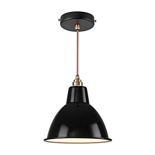 Vintage Industrial Enamel Pendant Lights in US - 6