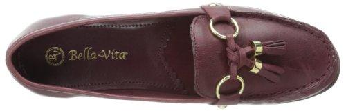 Bella Vita Mujer's Bella Vita Mallory Mocasín Adornado Oxblood Leather