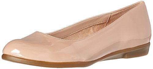 Aerosoles Women's Renowned Ballet Flat Nude Patent 605R0Rv